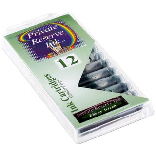 Private Reserve Ink Short International Ebony Brown Ink Cartridges (Pack of 12)