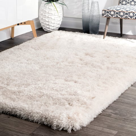 nuLOOM Handmade Soft and Plush Solid Premium Shag Rug (5' x 8') - 5' x 8'