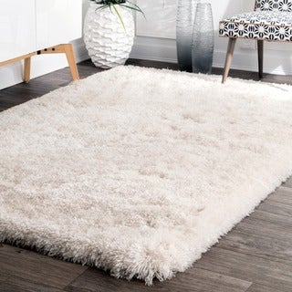 nuLOOM Handmade Soft and Plush Solid Premium Shag Rug (5' x 8')