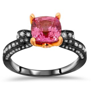 Noori 18k Black Gold Pink Sapphire 3/5ct TDW Diamond Engagement Ring (G-H, SI1-SI2)