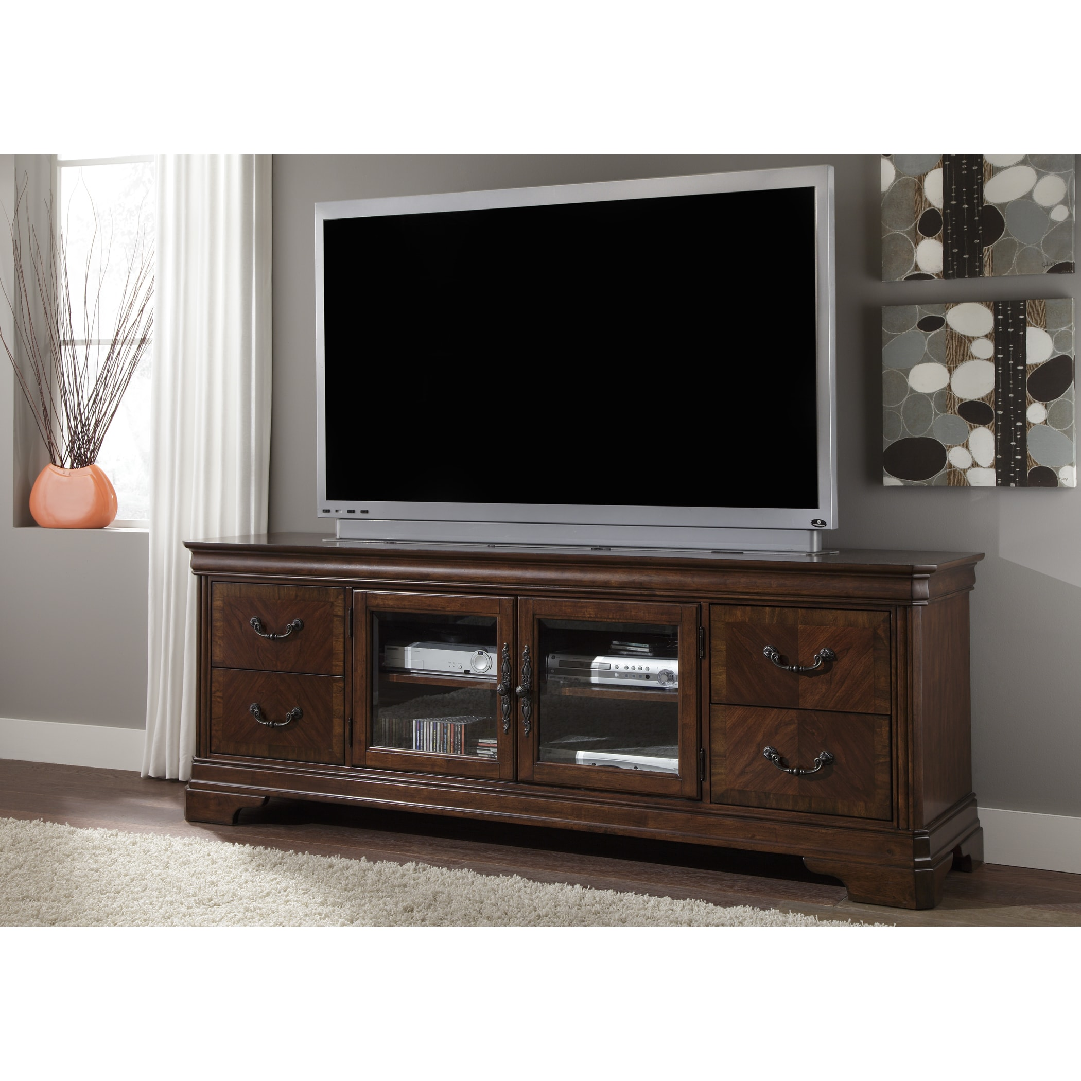 newest d745a 1ca4d Alexandria Autumn Brown 82 inch TV Console
