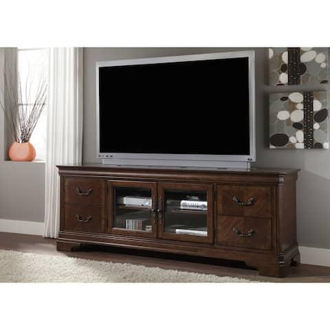 Alexandria Autumn Brown 82 inch TV Console