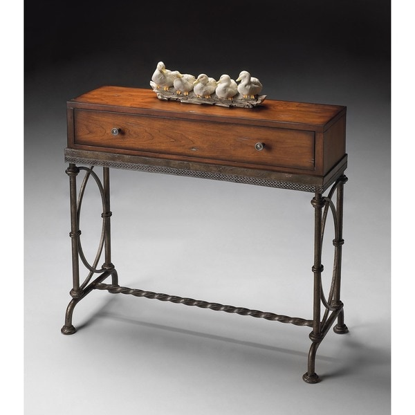 Butler Josef Metal U0026amp; Wood Console Table
