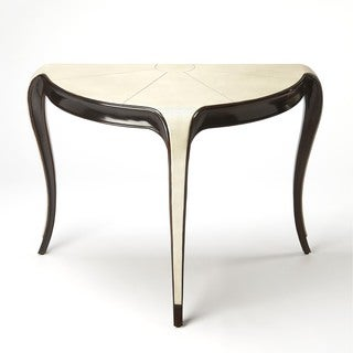 Butler Alexis Leather Demilune Console Table