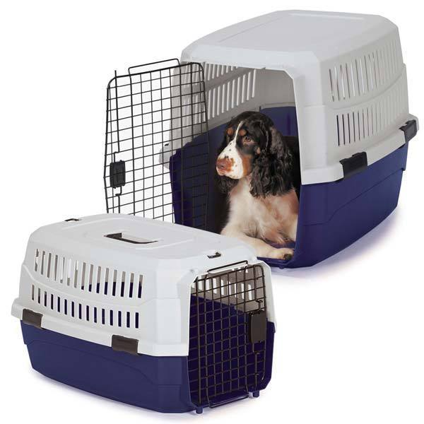 Guardian Gear Contain Me' Blue Plastic/Metal Dog Crate (M...