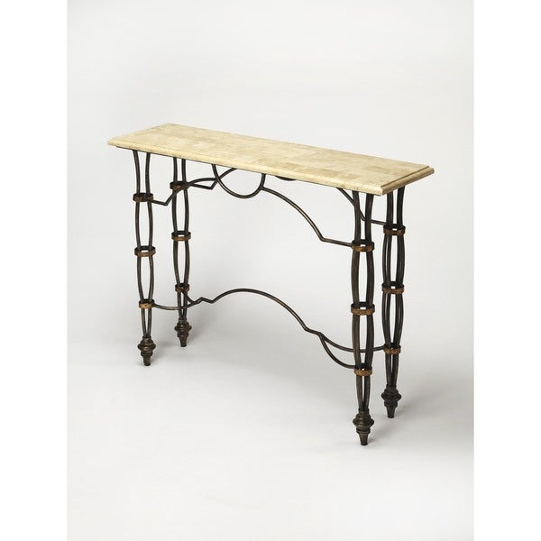 Superbe Handmade Butler Girona Fossil Stone Console Table (Philippines)