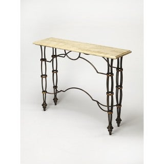Butler Girona Fossil Stone Console Table