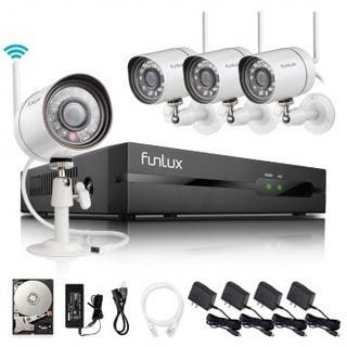 Funlux 4 Ch 720P 500GB HDD Wireless Security System|https://ak1.ostkcdn.com/images/products/12079673/P18945689.jpg?impolicy=medium