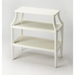 Butler Appleton Glossy White Tiered Console Table