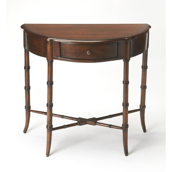 Handmade Butler Skilling Plantation Cherry Demilune Console Table China