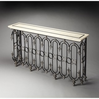 Butler Vienna Fossil Stone Console Table