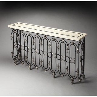 Handmade Butler Vienna Fossil Stone Console Table (Philippines)