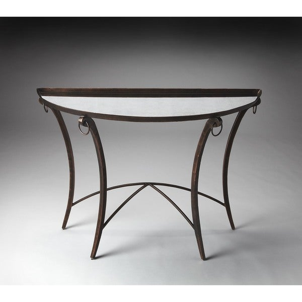 Handmade Butler Marilyn Metal Mirrored Demilune Console Table Philippines
