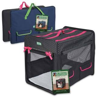 Cruising Companion Polka Dot Collapsible Dog or Cat Crate