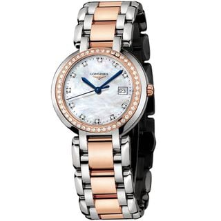 Longines Women's L81125896 'PrimaLuna' 18kt Rose Gold Diamond Two-Tone Stainless Steel Watch