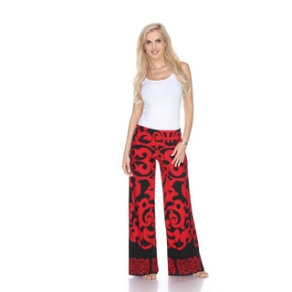 White Mark Women's Print Palazzo Pants