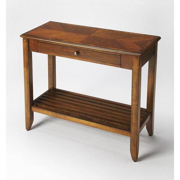 Butler Irvine Olive Ash Burl Rectangular Console Table - Medium Brown