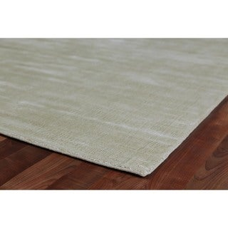 Exquisite Rugs Super Gem Linen Viscose from Bamboo Silk Rug (6' X 9')