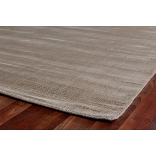 Exquisite Rugs Super Gem Citrine Viscose from Bamboo Silk Rug (6' x 9')