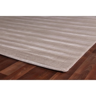 Exquisite Rugs Super Gem Chenille Viscose from Bamboo Silk Rug (6' x 9')