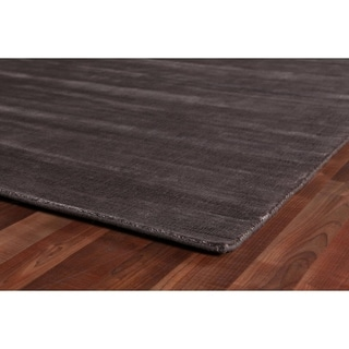 Exquisite Rugs Super Gem Bronze Viscose from Bamboo Silk Rug (6' X 9')