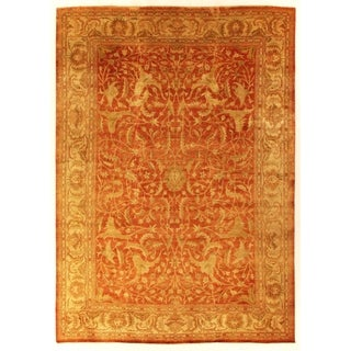 Exquisite Rugs Sultanabad Rust New Zealand Wool Rug (6' x 9')