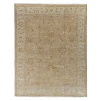 Exquisite Rugs Ziegler Gold / Camel New Zealand Wool Rug (6' x 9') - 6' x 9'