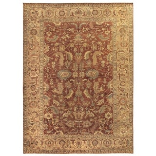 Exquisite Rugs Serapi Rust/Gold New Zealand Wool Rug (6' x 9')