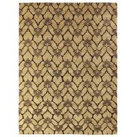 Exquisite Rugs Metropolitan Chocolate New Zealand Wool Rug (6' x 9') - 6' x 9'