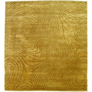 Exquisite Rugs Metropolitan Beige New Zealand Wool Rug - 6' x 9'