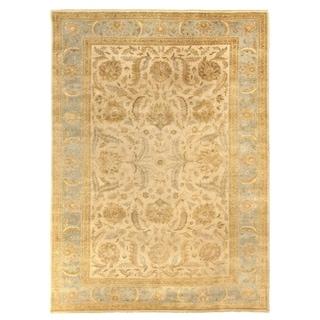 Exquisite Rugs Turkish Oushak Ivory/Light Blue New Zealand Wool Rug (6' x 8'4)