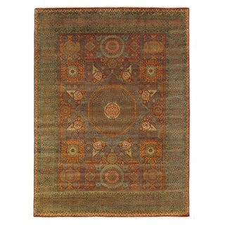 Exquisite Rugs Tabriz Rust/Green New Zealand Wool Rug (5' 4 x 8' 4)