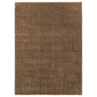 Exquisite Rugs Soho Chocolate Brown New Zealand Wool Rug (5'3' X 8'6)
