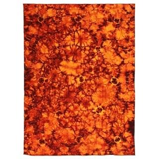 Exquisite Rugs Flatweave Brown New Zealand Wool Rug - 5' x 8'