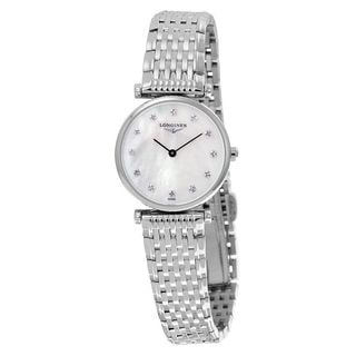 Longines Women's L47094876 'La Grandes Classiques Flagship' Diamond Stainless Steel Watch