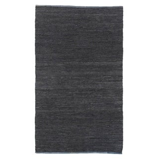 Exquisite Rugs Grey Leather Lashed Rug (5' x 8')