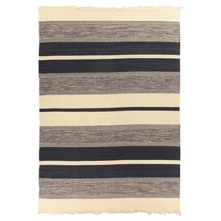 Exquisite Rugs Blue Cotton Dhurrie Rug - 5' x 8'