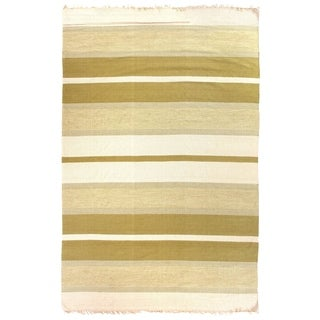 Exquisite Rugs Dhurrie Green Cotton Rug - 5' x 8'