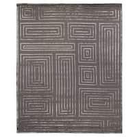 Exquisite Rugs Metro Velvet Dark Grey New Zealand Wool and Viscose Rug - 9' x 12'