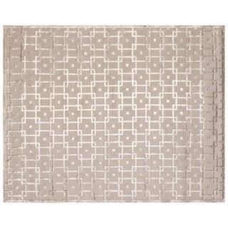 Exquisite Rugs Metro Velvet Beige New Zealand Wool and Viscose Rug - 9' x 12'