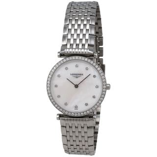 Link to Longines Women's L45130876 'La Grandes Classiques Flagship' Diamond Stainless Steel Watch Similar Items in Women's Watches
