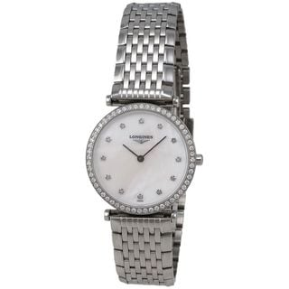 Longines Women's L45130876 'La Grandes Classiques Flagship' Diamond Stainless Steel Watch