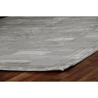 Exquisite Rugs Metro Velvet Silver Wool/Silk Foundation Rug (9' x 12')