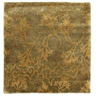 Exquisite Rugs Metropolitan Blue / Green New Zealand Wool Rug - 9' x 12'