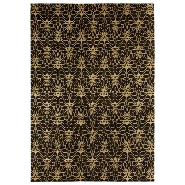 Shop Exquisite Rugs Metropolitan Brown Beige New Zealand Wool Rug