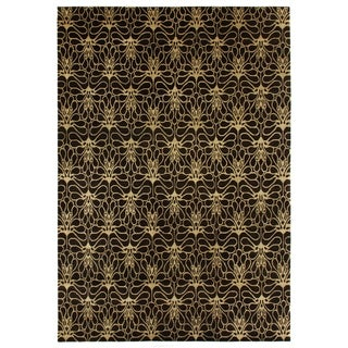 Exquisite Rugs Metropolitan Brown/Beige New Zealand Wool Rug (9' x 12')