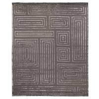 Exquisite Rugs Metro Velvet Dark Grey New Zealand Wool and Viscose Rug - 8' x 10'
