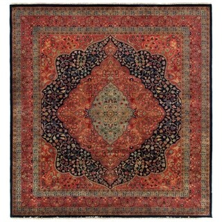 Exquisite Rugs Super Fine Mohajeran Blue / Red New Zealand Wool Rug - 8' x 10'