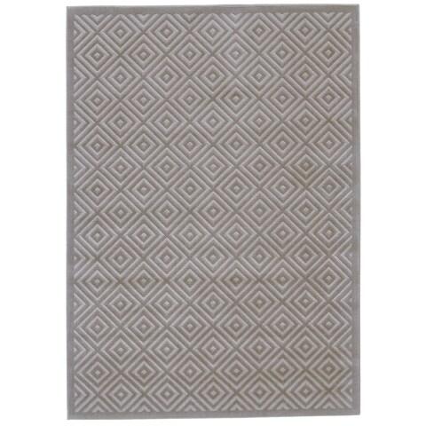 "Grand Bazaar Sheena Birch / Taupe Area Rug - 10' x 13'2"""