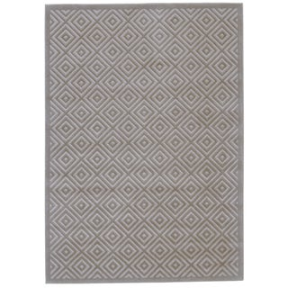Grand Bazaar Merna Birch and Taupe Machine-made Polypropylene Rug (10' x 13'2)